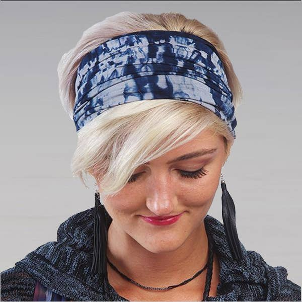Wrapsody Headbands - Cracked Ice Shibori