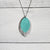 Cool Mint & Silver Fringe Leather Necklace