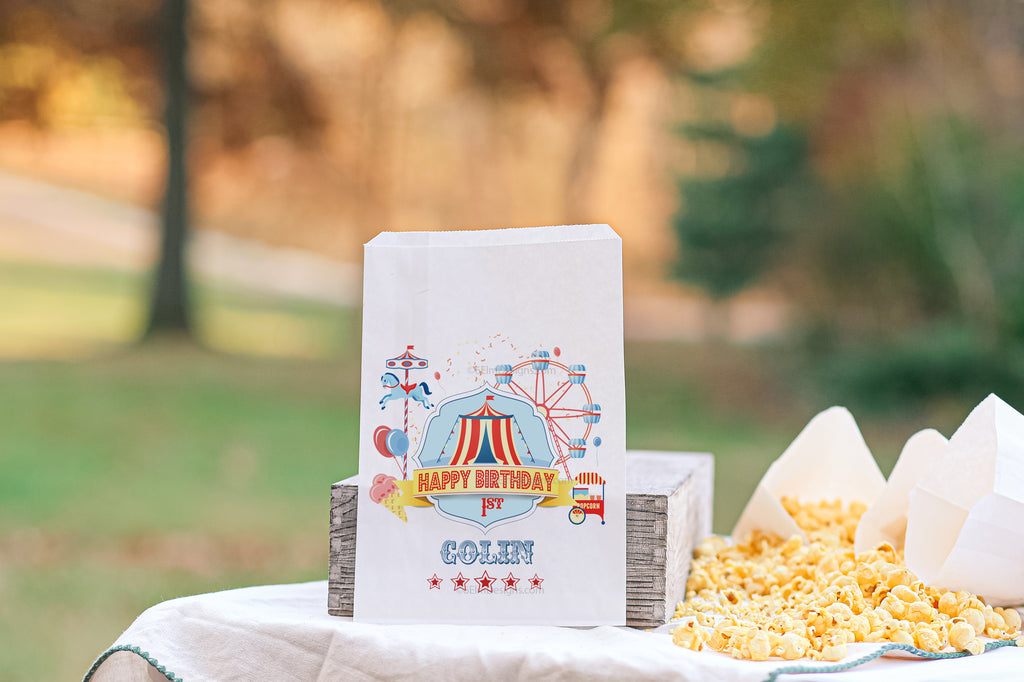 Circus Tent Carnival Favor Bags - Red Version