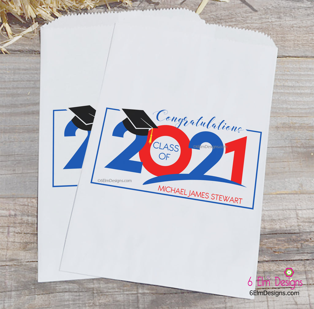Congratulations 2021 Graduation Party Favor Bags