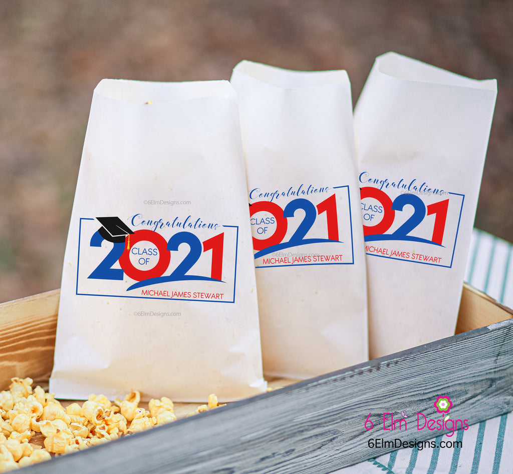 Congratulations Class of 2021Personalized Favor Bags