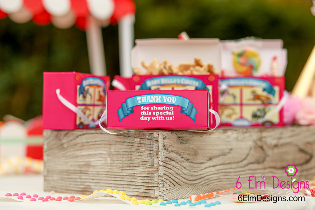 Mommies and Babies Vintage Animal Cracker Favor Boxes, Pink