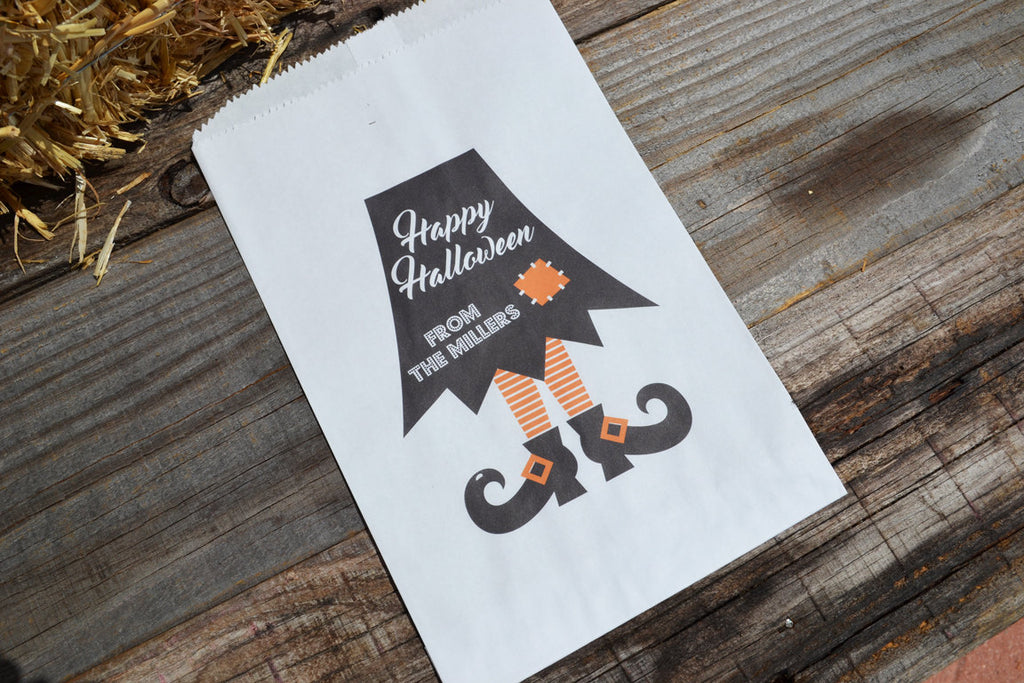 Witches Skirt Halloween Personalized Goodie Bags