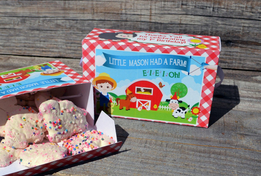 Animal Cracker Boxes for Farm Birthday Party or Petting Zoo Party