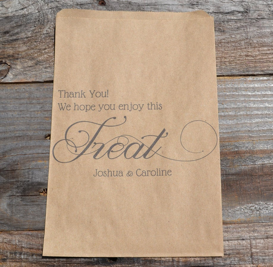 Thank You Candy Bags Brown Kraft