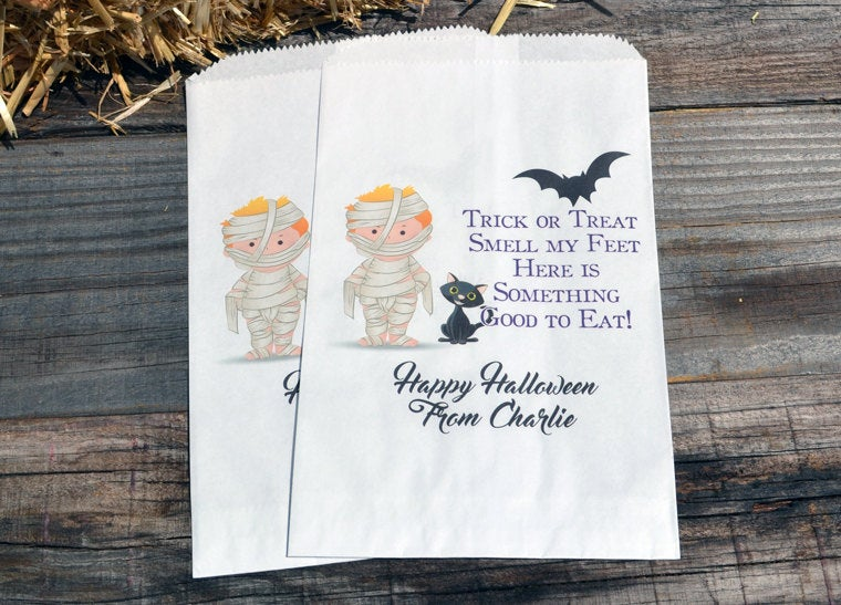 Mummy Halloween Personalized Goodie Bags