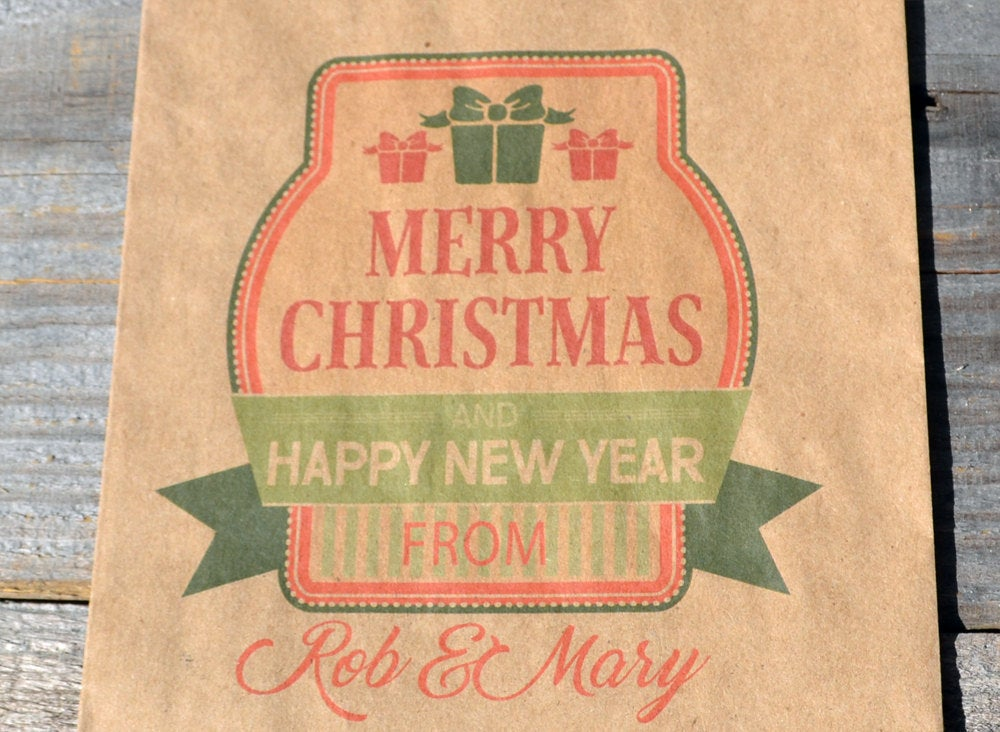 Merry Christmas Candy Bags | Christmas Cookie Bags | Holiday Favor Bag | Smores Kit | Favor Bags | Happy New Year Bag | Candy Bags |