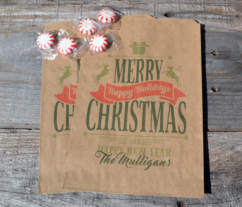 Merry Christmas Treat Bags