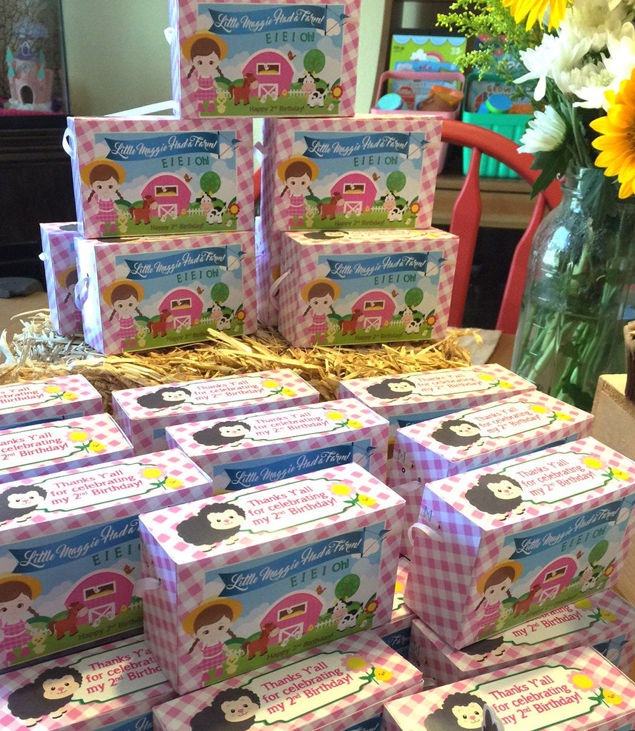 Animal Cracker Boxes for Girls Farm Party