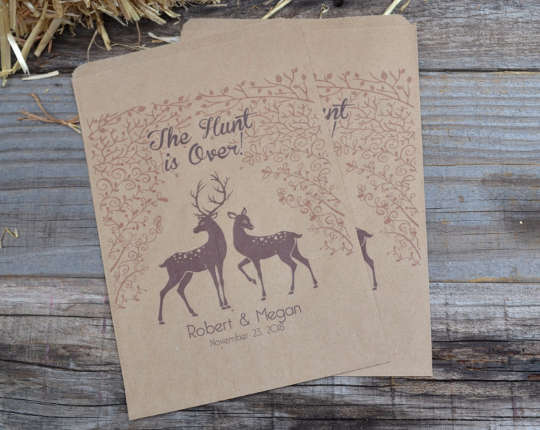 The Hunt is Over Deer Favor Bags