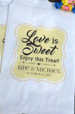Love is Sweet Wedding Candy Bags
