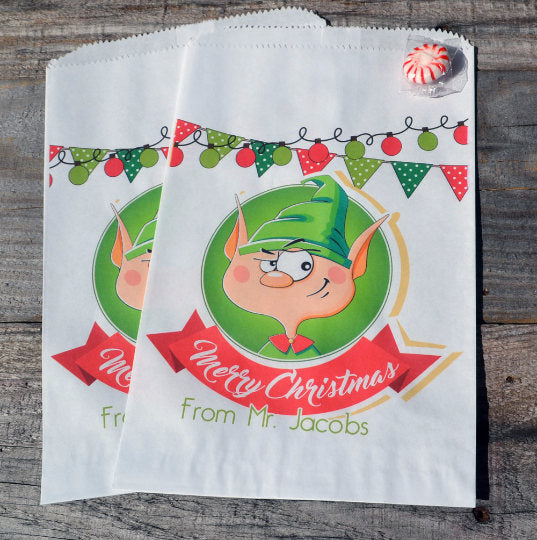 Elf Personalized Goodie Bags