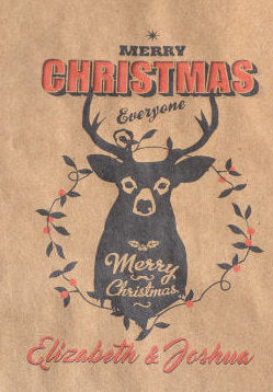 Christmas Deer Head Personalized Goodie Bags