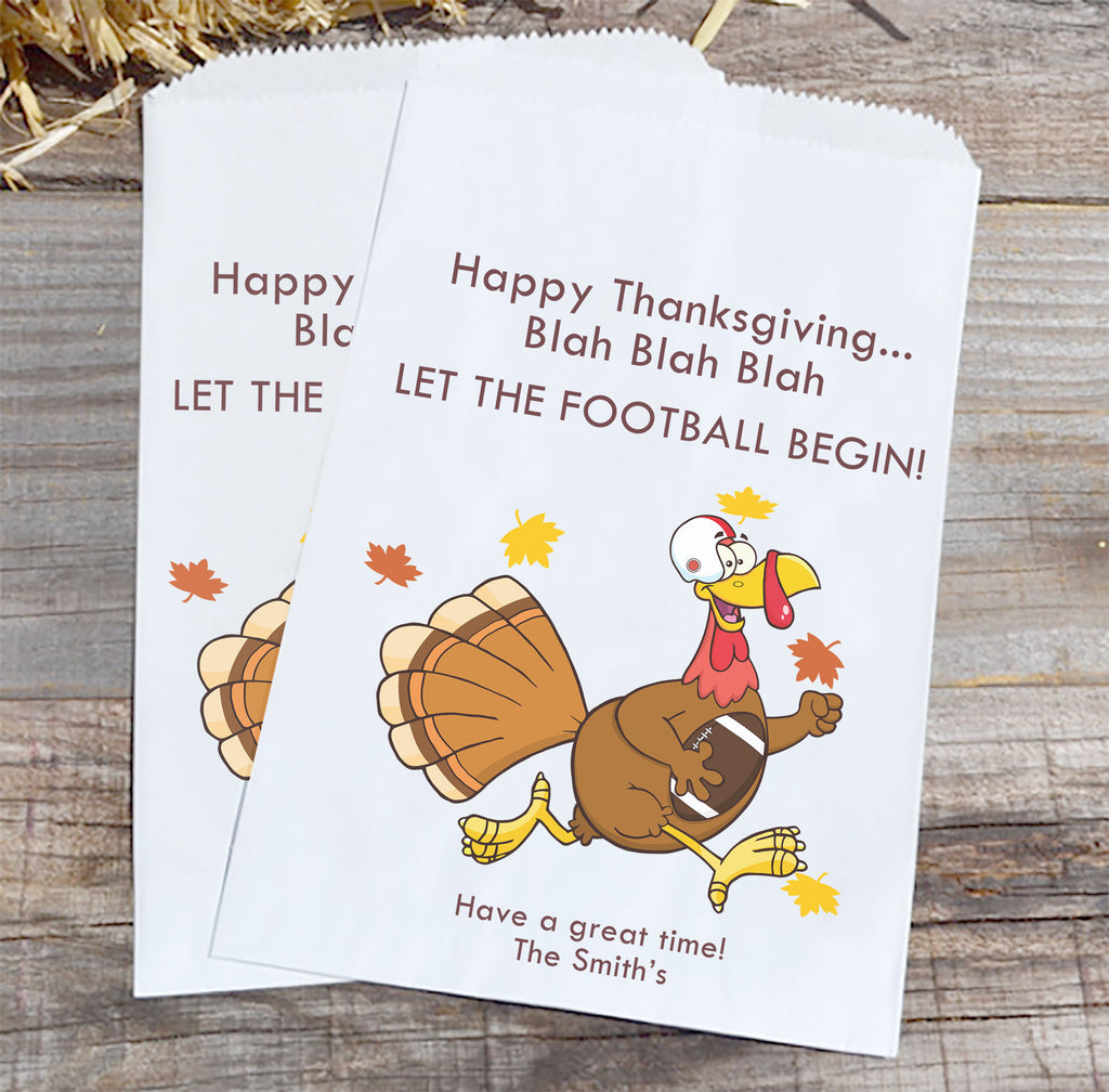 Let the Football Begin Thanksgiving Favor Bags