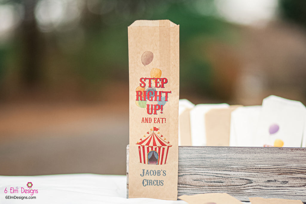 Step Right Up Circus Carnival Birthday Silverware Utensil Flatware Bags