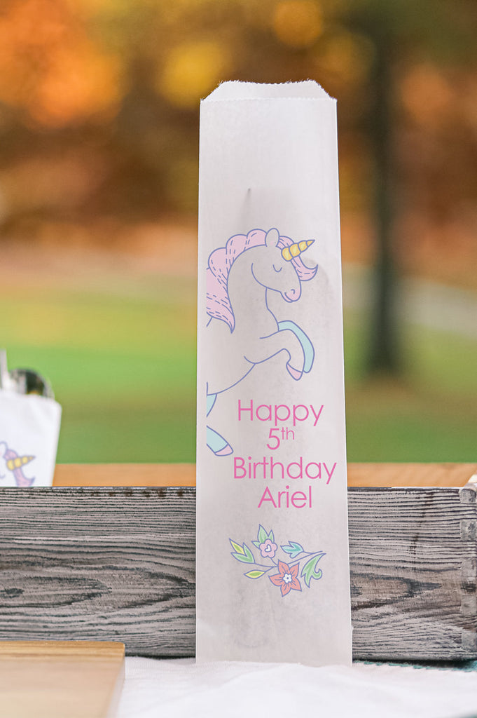Unicorn Birthday Silverware Bags Utensil Flatware Bags