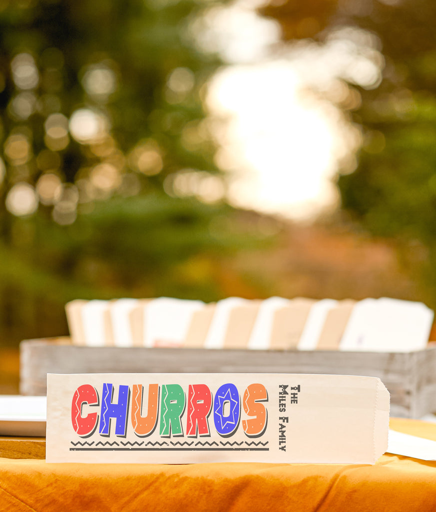 Churro Bags Personalized Family Party