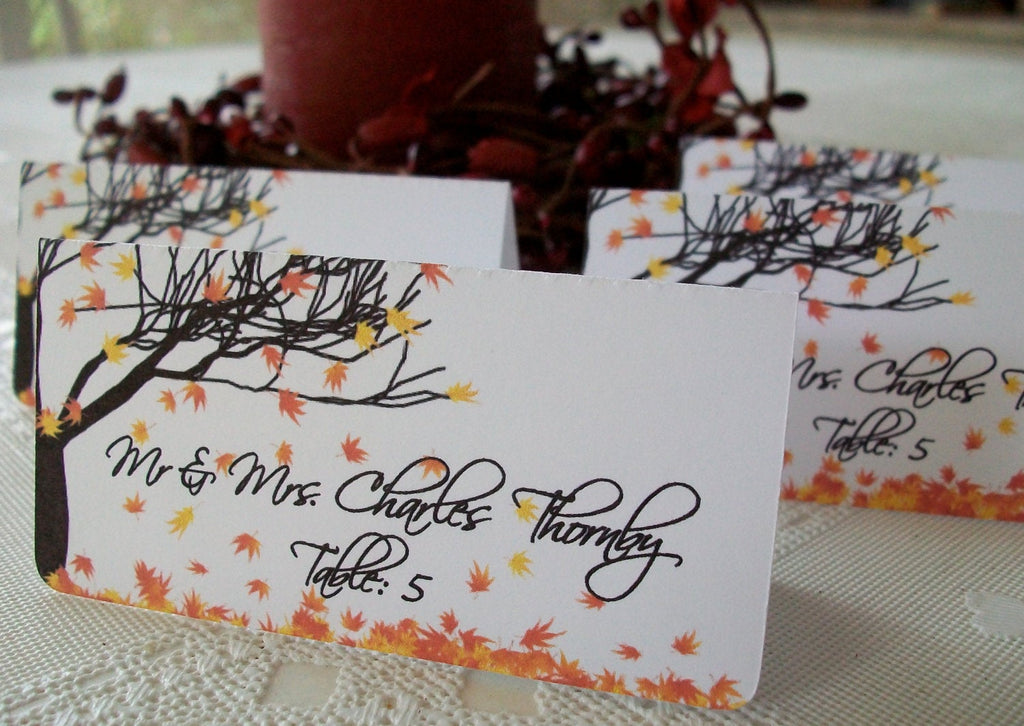 Fall Leaves Place Cards - 30 Pack