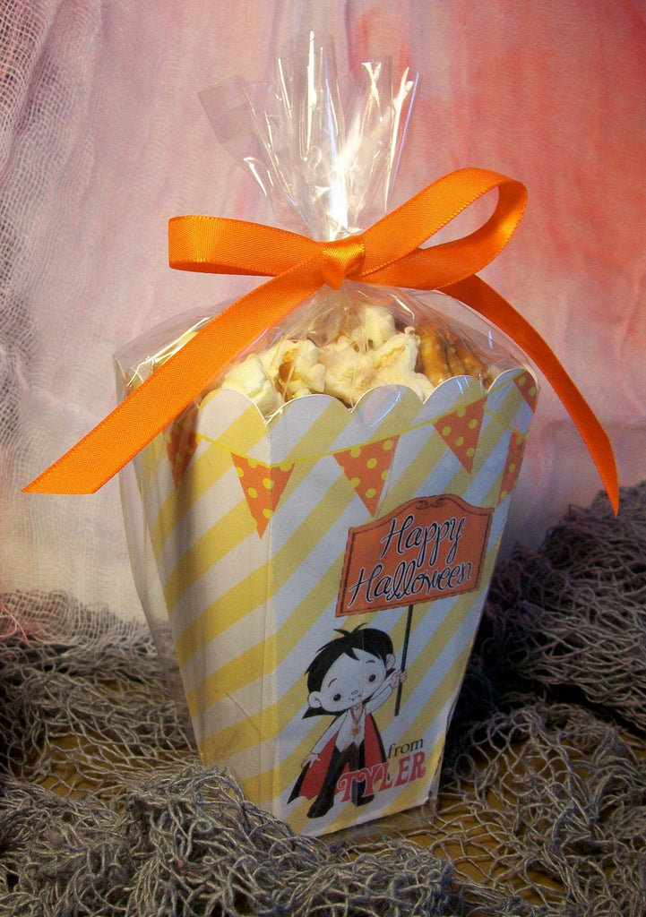 Vampire Kids Halloween Popcorn Goodie Boxes