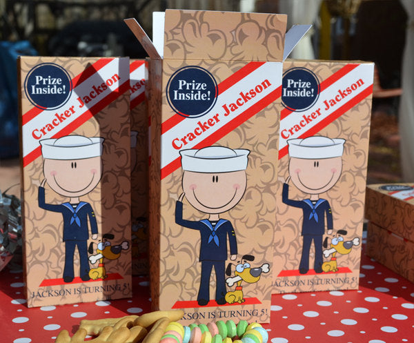 Sailor Boy Cracker Jack Boxes for Children's Birthday Favors