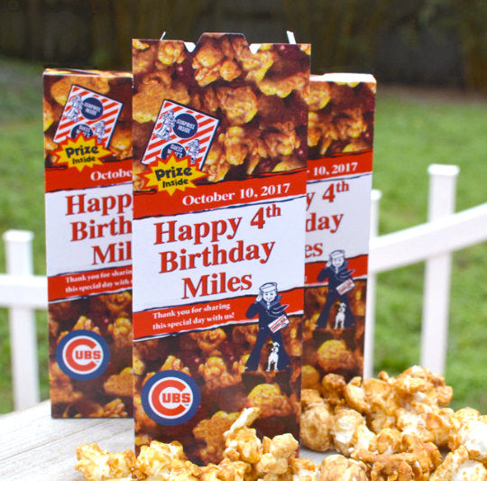 Cracker Jack Boxes for Baseball Birthday Party Favors
