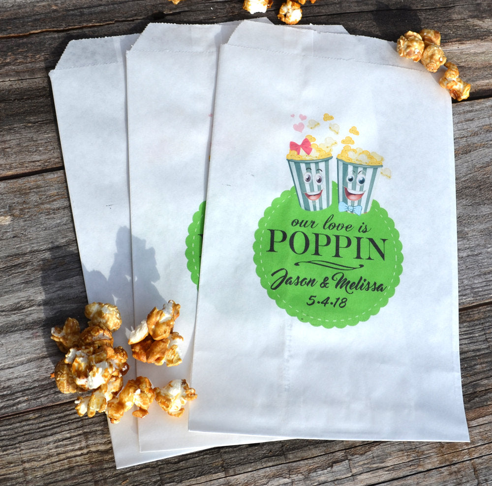 Popcorn Boxes Our Love is Poppin Bags
