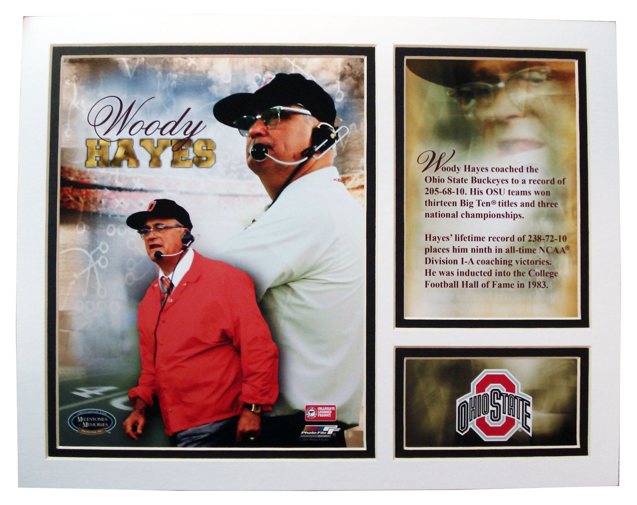 OSU 8x10 Matted Woody - Sports Butler
