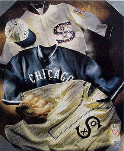 White Sox Vintage Collage Canvas 8x10 - Sports Butler