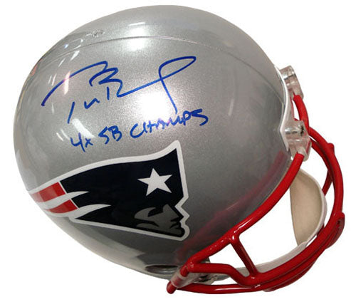Tom Brady Signed Patriots Helm - Sports Butler