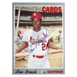 Topps Lou Brock 10x14 Blow Up Card 1970 - Sports Butler