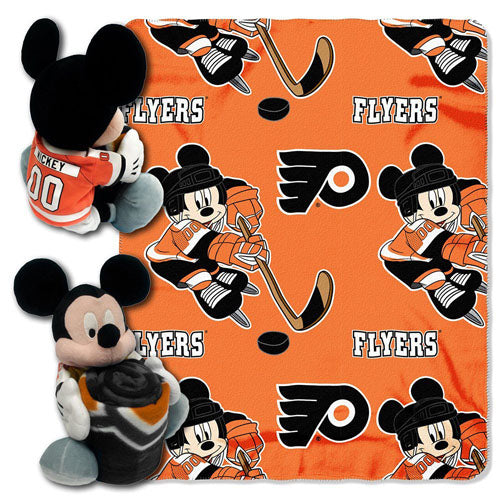 NHL Philadelphia Flyers Ice Warriors 40x50-Inch Throw with 14-Inch Hugger - Sports Butler