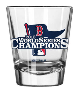 MLB 2013 World Series Champion Satin Etched Shot Glass  2-Ounce - Sports Butler
