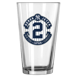 New York Yankees /Derek Jeter Clear Pint - Sports Butler