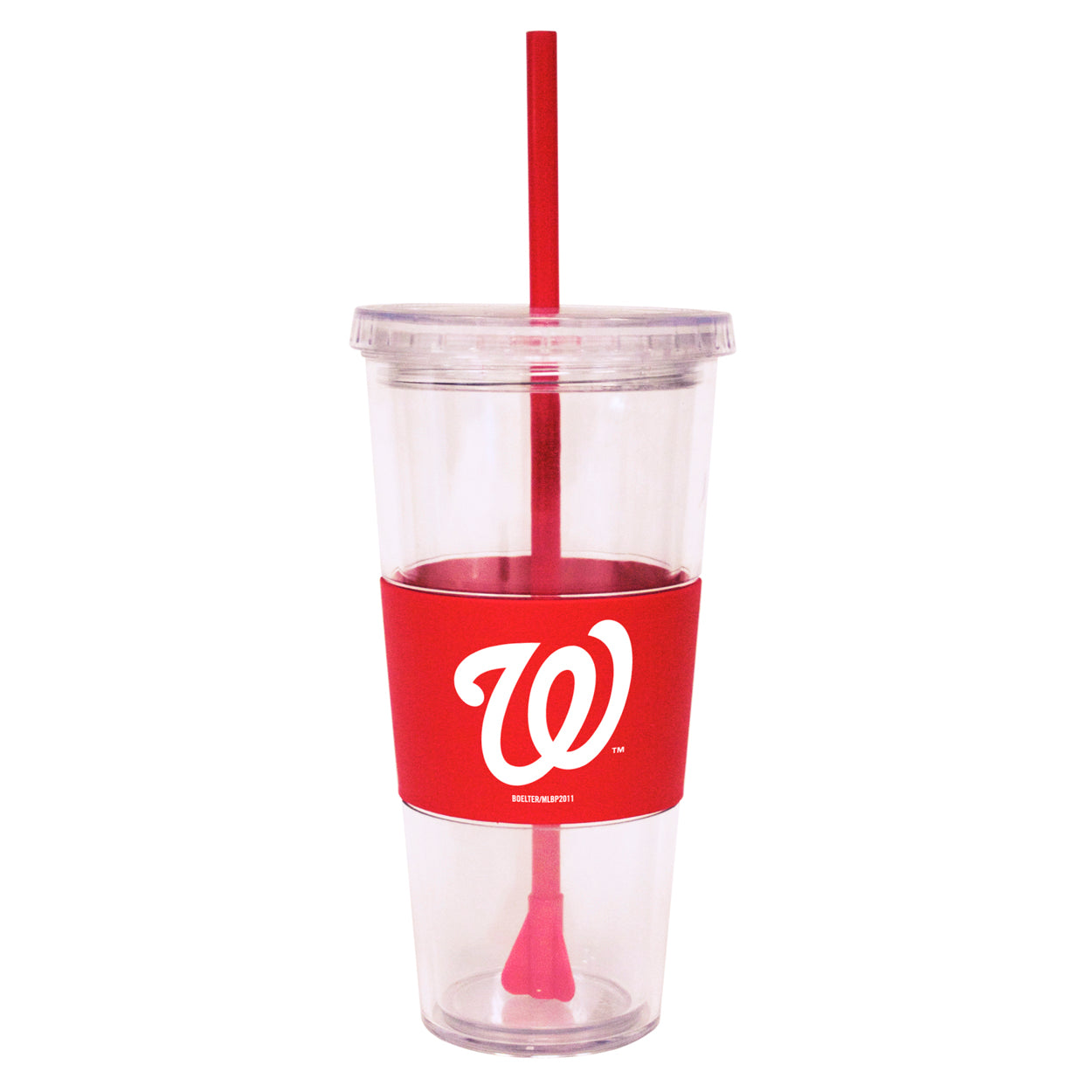 Washington Nationals 22 oz. Insulated Straw Tumbler with Sleeve - Sports Butler
