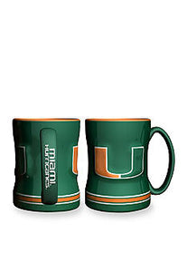 Relief Sculpted Mug Miami Hurricanes - Sports Butler