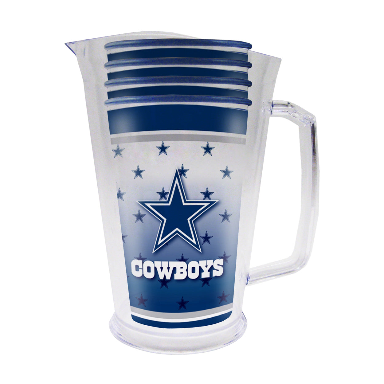 Dallas Cowboys Plastic Pitcher Tailgate Set - Sports Butler