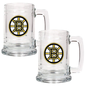 NHL Boston Bruins 15-Ounce Glass Tankard - Sports Butler