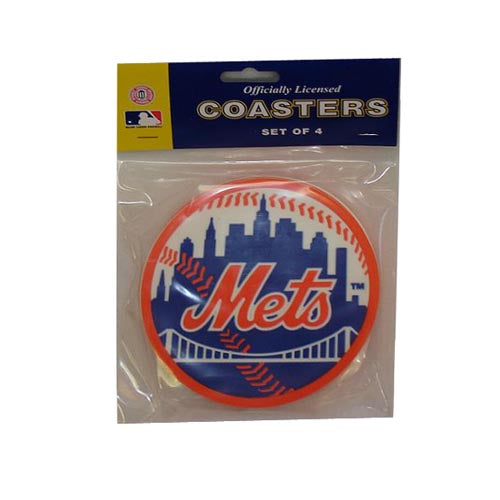 Ny Mets Coasters Set of 4 - Sports Butler