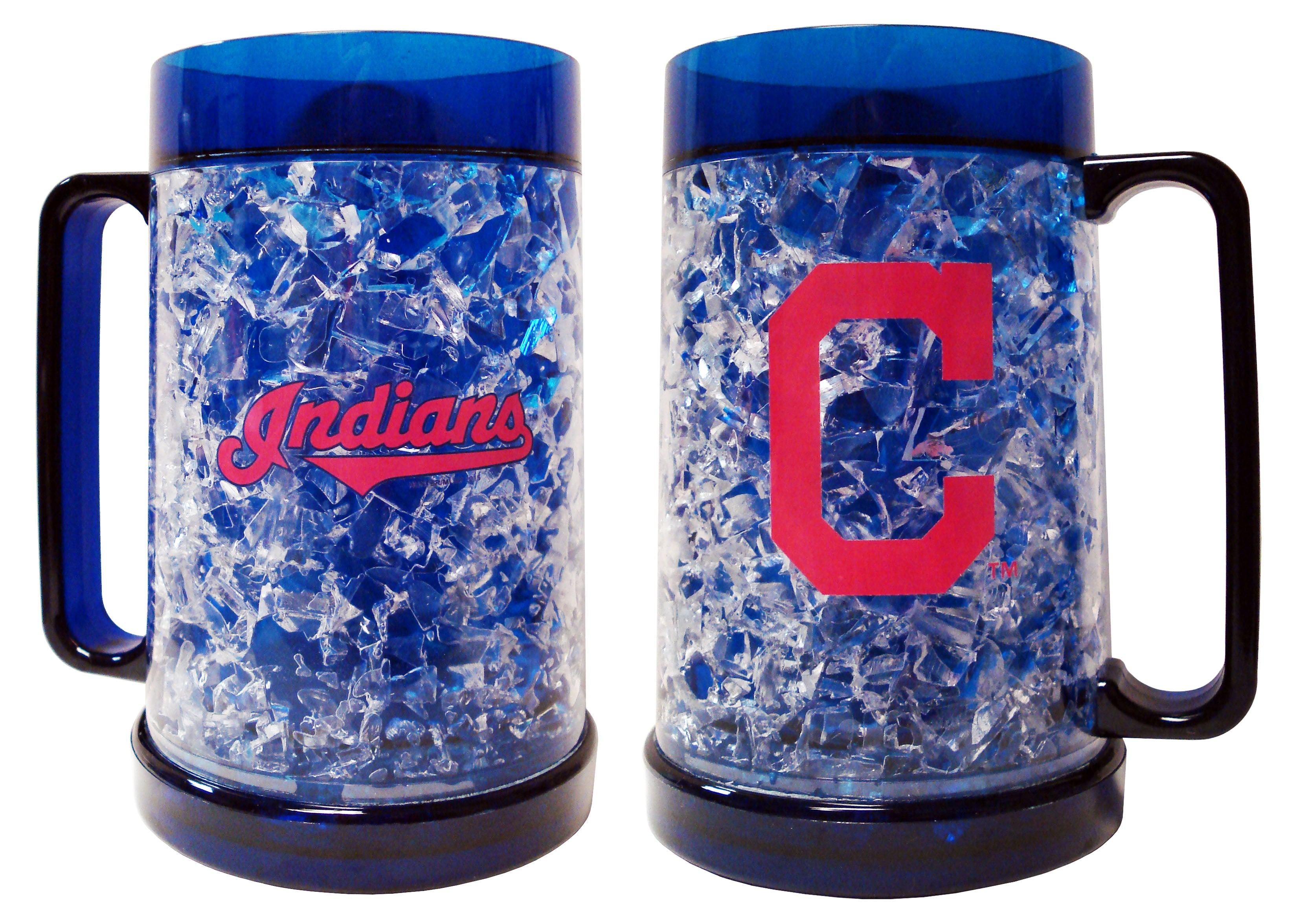 Duckhouse MLB Cleveland Indians 16Oz Crystal Mug - Sports Butler