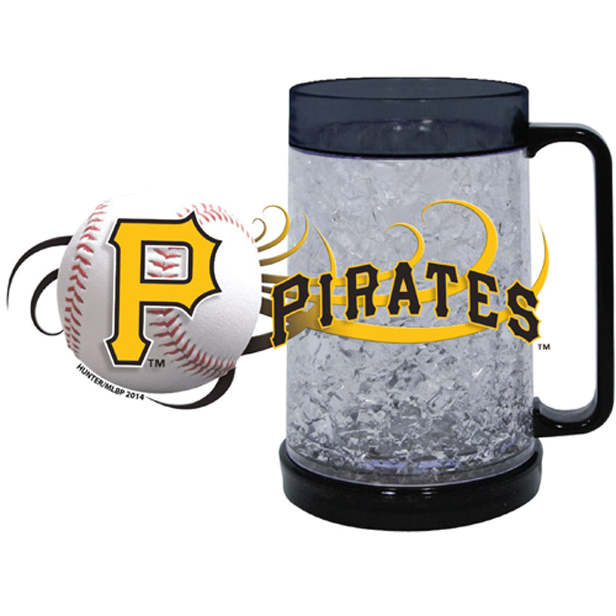 Duckhouse MLB Pittsburgh Pirates 16Oz Crystal Freezer Mug - Sports Butler