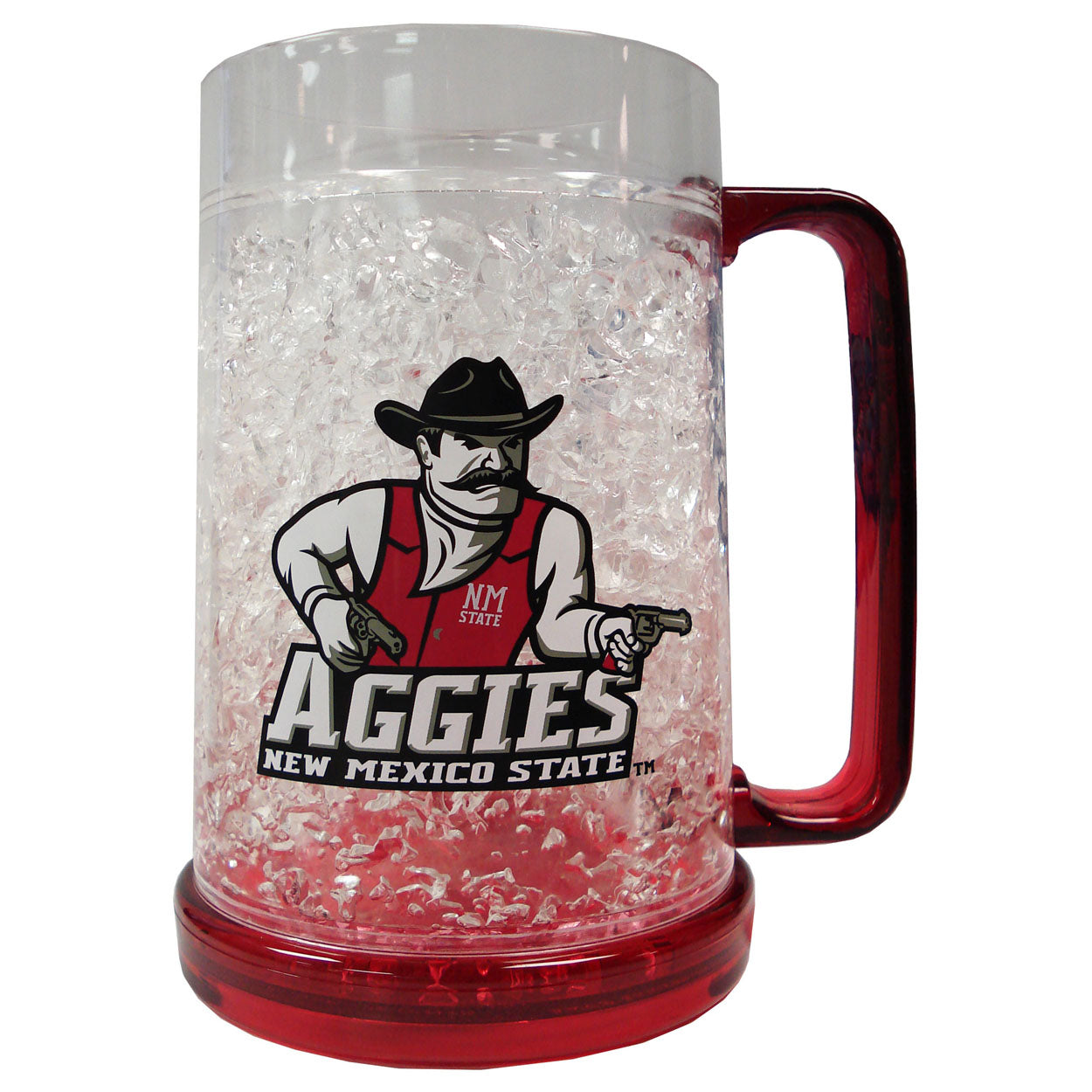Duckhouse NCAA New Mexico State Aggies Crystal Freezer Mug - Sports Butler