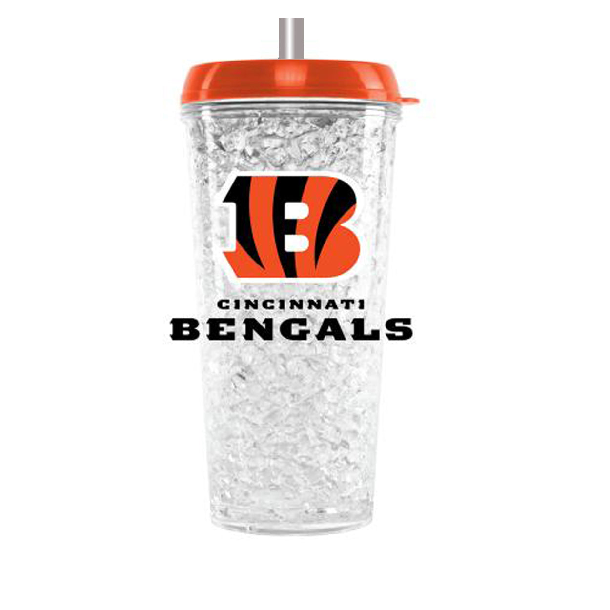 Duckhouse NFL Cinicinnati Bengals Crystal Freezer Straw Tumbler With Lid - Sports Butler