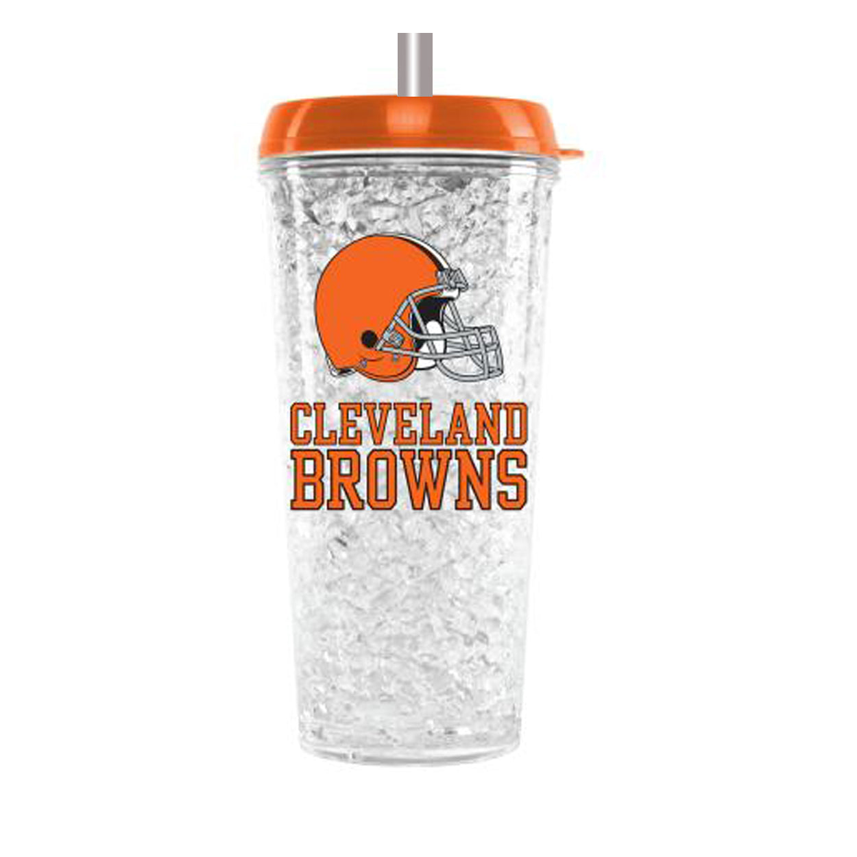 Duckhouse NFL Cleveland Browns Crystal Freezer Straw Tumbler With Lid - Sports Butler