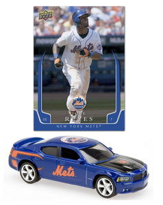 Upper Deck 2008 MLB New York Mets 1:64 Dodge Charger with Jose Reyes Card - Sports Butler