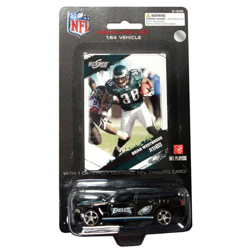 Press Pass 1:64 Dodge Charger with Card - NFL Philadelphia Eagles Brian Westbrook - Sports Butler
