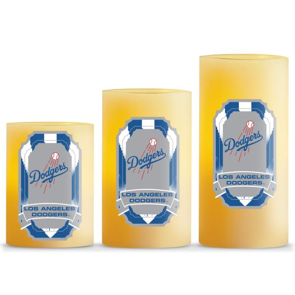 Duckhouse MLB Los Angeles Dodgers 3-Piece LED Candle Gift Set - Sports Butler