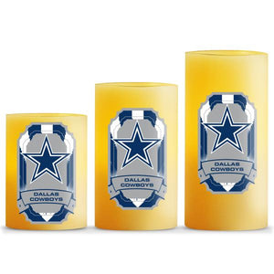 Duckhouse NFL Dallas Cowboys 3-Piece LED Candle Gift Set - Sports Butler