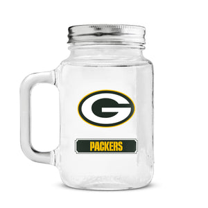 Duckhouse 16 Ounce Mason Jar - Green Bay Packers - Sports Butler