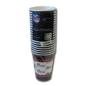 Duckhouse NFL New England Patriots Disposable Paper Cups - 20 Pack - Sports Butler