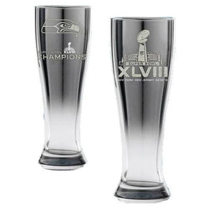 NFL Super Bowl 48 Champions Seattle Seahawks Glacial Pilsner Glass - Sports Butler